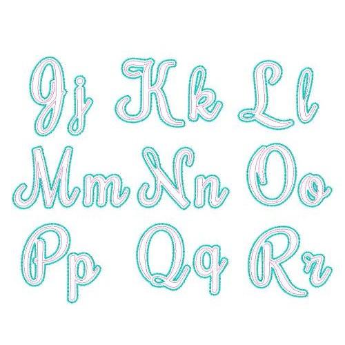 Adore Applique Script Font