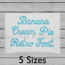 Banana Cream Pie Embroidery Font