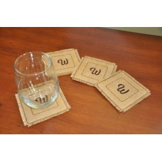 Simple Elegance Monogram Coasters In the Hoop
