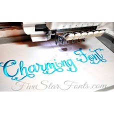 Charming Embroidery Font Swoosh