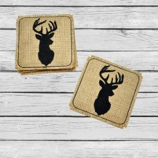 Whitetail Buck Coasters In the Hoop