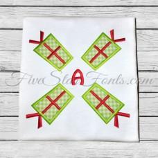Gift Present Applique Monogram