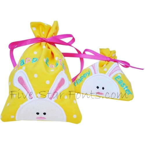 Easter treat bags in the hoop negle
