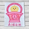 Easter Basket Chick Monogram