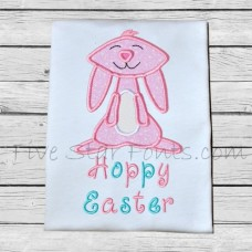 Long and Tall Cute Bunny Applique