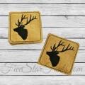 Elk Coasters In the Hoop