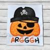 Pirate Pumpkin Applique