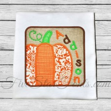 Pumpkin Square Patch Applique