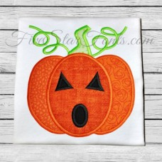 Swirly Jack-o-lantern Applique