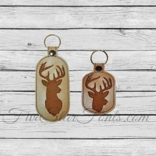 Whitetail Buck Key Chains In the Hoop