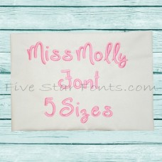 Miss Molly Embroidery Font