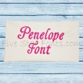 Penelope Embroidery Font