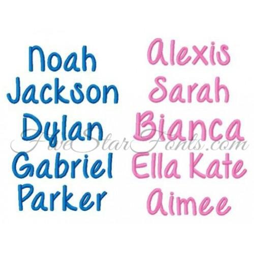 Embroidery Fonts For Boys | Ausbeta.com