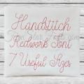 Handstitch Redwork Font