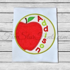 Apple Circle Applique Patch
