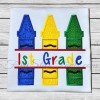 Split 3 Color Crayons Applique