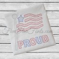 American Flag Sketch Quick Stitch + Bonus Vintage Designs