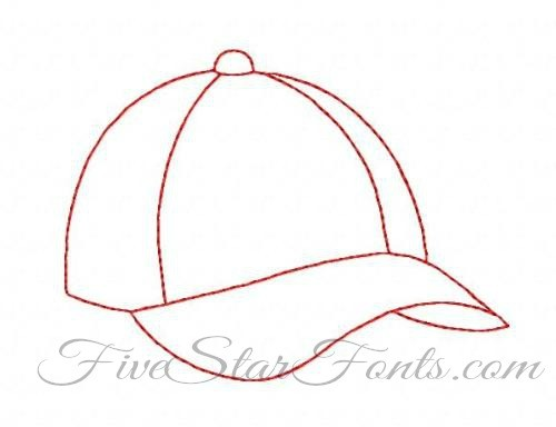 how to draw a baseball hat on a person
