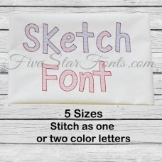 Sketch Embroidery Font