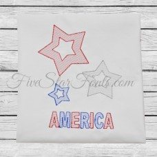 Trio of Stars Sketch Quick Stitch + Bonus Vintage Designs