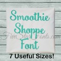 Smoothie Shoppe Embroidery Script Font