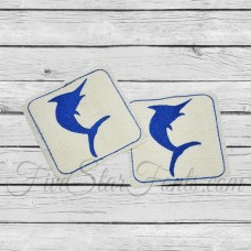 Blue Marlin Coasters In the Hoop