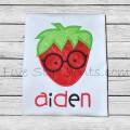 Adorkable Strawberry Applique
