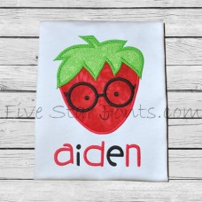 Adorkable Strawberry Applique