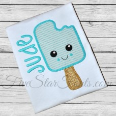 Sweet Popsicle Ice Cream Applique