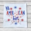 All American Girl Boy Patriotic Applique
