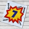 Super Hero Comic Bubble Applique Numbers