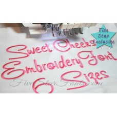 Sweet Cheeks Embroidery Font