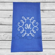 Swirly Monogram Frame 6