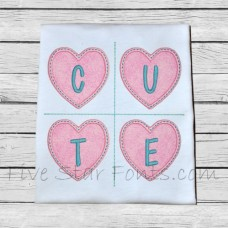 Heart Words Applique