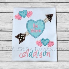 Candy Heart Arrow Applique