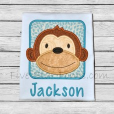 Monkey Block Applique