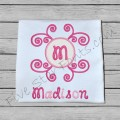 Swirl Heart Applique Monogram
