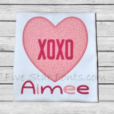 XOXO Heart Applique