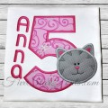 Kitty Applique Numbers