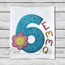 Flower Applique Numbers