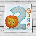 Lion Applique Birthday Numbers