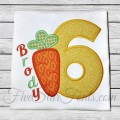 Easter Carrot Applique Numbers