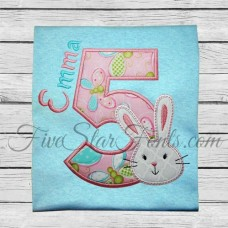 Bunny Applique Numbers