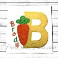 Easter Carrot Applique Font