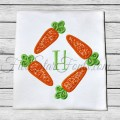 Easter Carrot Frame Applique Monogram