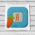 Easter Carrot Square Frame Applique