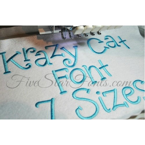 Krazy Cat Embroidery Font