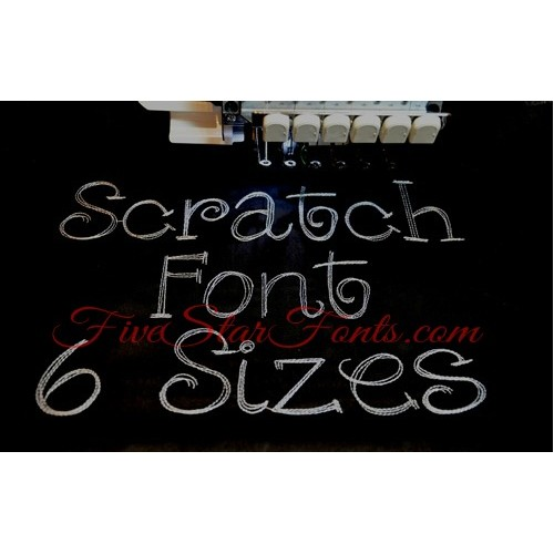 Scratch Embroidery Font