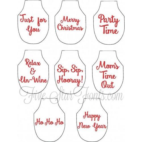 In The Hoop Bottle Aprons 14 Designs Wine