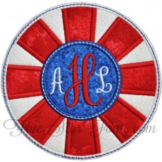 Red White Blue Medallion Applique